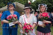 Image of the winner and runners up in the 'Mrs Rochester' competition