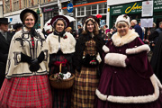 Image of lining up for the Sunday Grand Parade at the Rochester Dickensian Christmas 2017, linking to a larger image