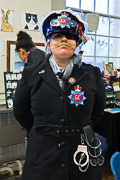 Image captioned 'A steampunk robotic police officer from the Mudfog Police Authority safeguarding the Rochester Dickensian Christmas 2017 (look up 'The Mudfog Papers' on your favourite search engine!)', linking to a larger image