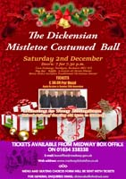 an image of the poster promoting the Mistletoe Ball 2017
