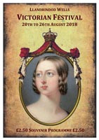 An image of the front page for the Llandrindod Wells Victorian Festival 20-26 August 2018