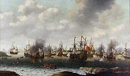 An image of the Battle of Medway