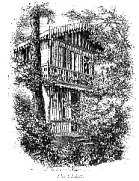 an engraving of the Swiss Chalet at Gads Hill, linking to the full-size image